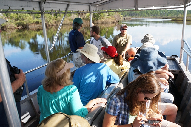 The 2015 Master Naturalist class studies coastal environments in the field. (Photo courtesy of Randall Hines)