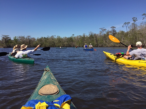 Kayakers enjoy a recreational trip in the Dog River watershed. Watershed planning is underway for the area, which offers habitat as well as recreational opportunities, two key components that are being addressed in the plan.