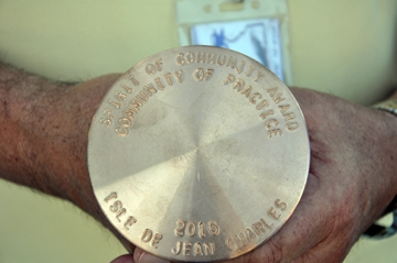 The Spirit of Community Award is an engraved elevation marker.