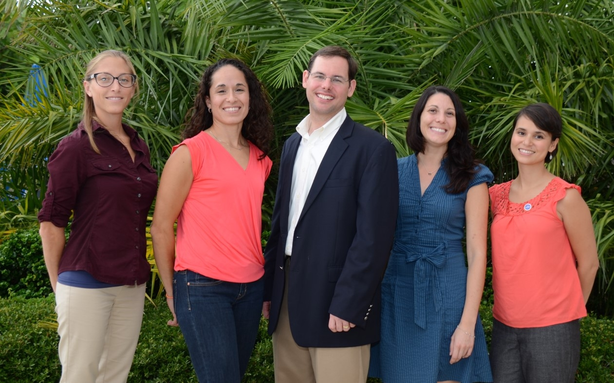 Chris Hale, Monica Wilson, Steve Sempier, Larissa Graham and Emily Maung-Douglass make up the oil spill science outreach team.
