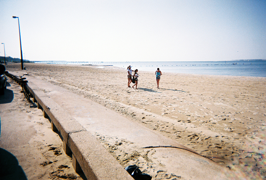 Volunteers on Front Beach in Ocean Springs had  more sand to scour for trash in 2006 during the Mississippi Coastal Cleanup.