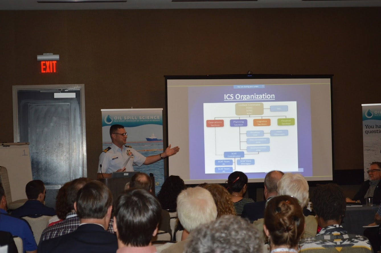 Coast Guard Lt. Ryan Dickson explains how the government oredered incident command system works in the event of an oil spill.