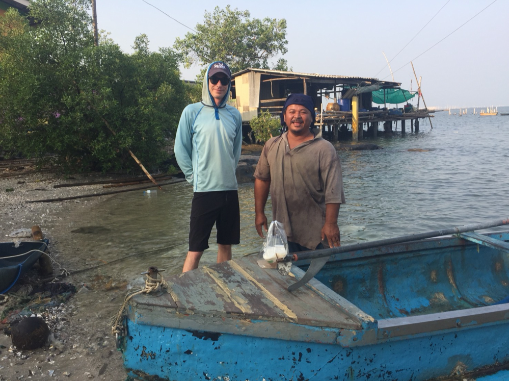 Tom Cannon of Soundside Oyster Farm learns about oyster aquaculture in Thailand.