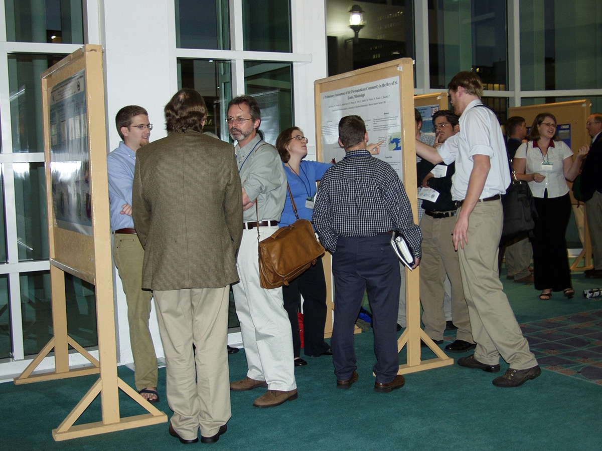 They Bays and Bayous Symposium has been around a while. This poster session photo was taken at the 2006 Bays and Bayous in Mobile.