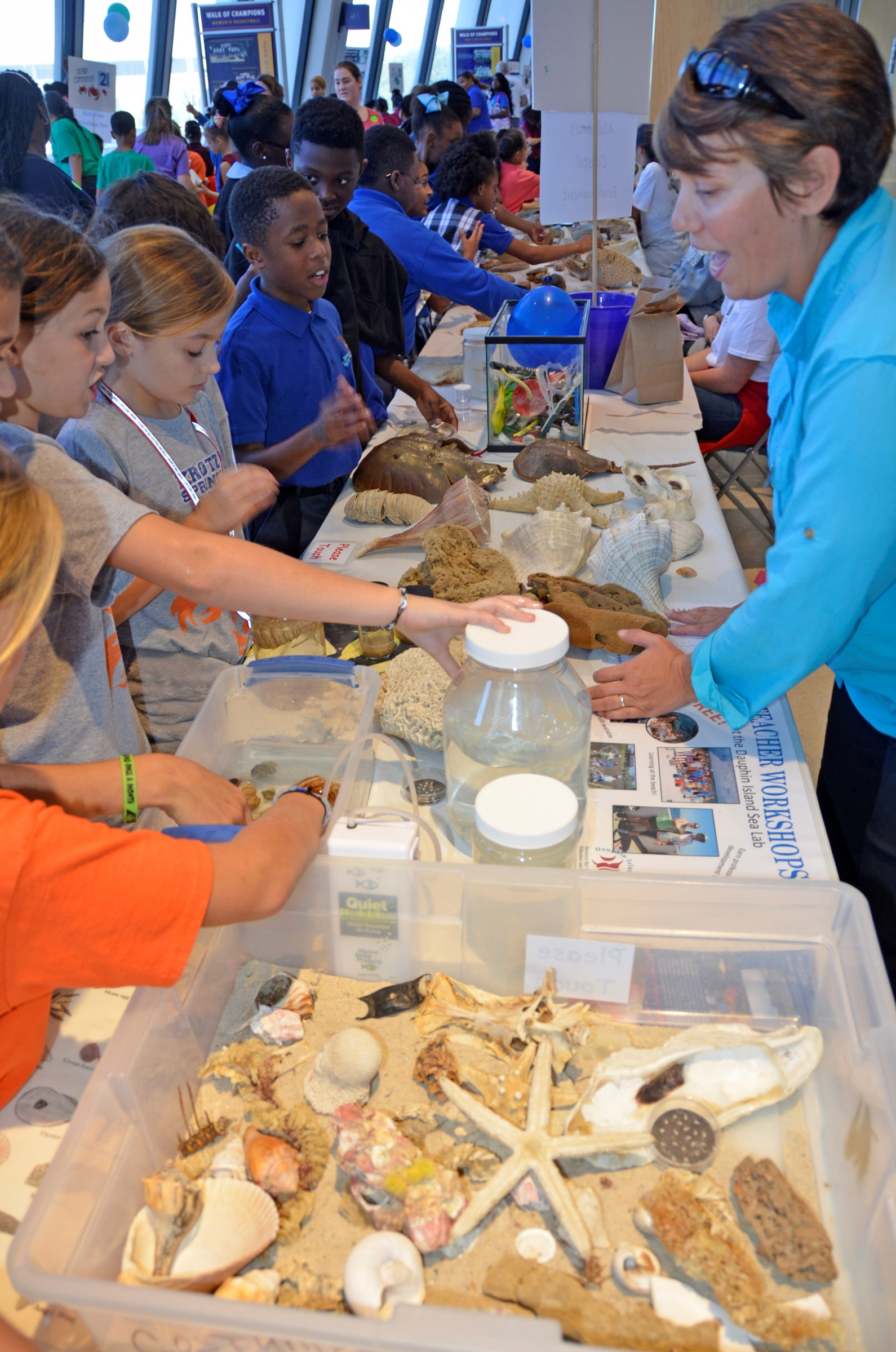 The 2017 Ocean Commotion event is an example of a large outreach event for Alabama and the MS-AL Sea Grant program.