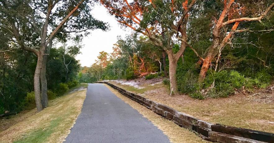 The Coyote Crossing Trail runs adjacent to the Gulf State Park offices. (Photo courtesy of Alabama Department of Conservation and Coastal Resources)