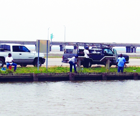 Water access for fishing. Mobile Causeway.
