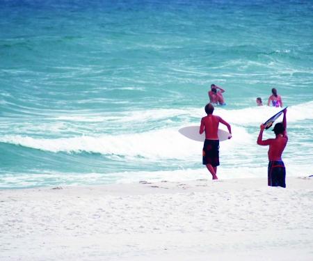 Water access. Kids at public beach.