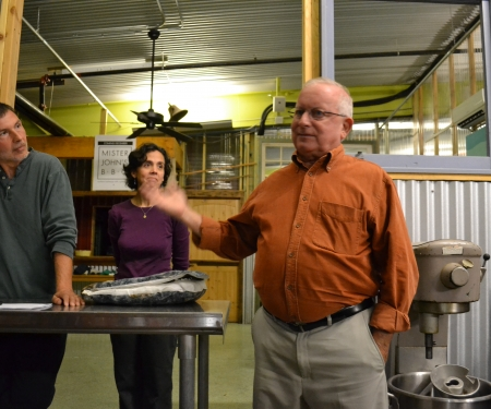 Point aux Pins Oyster Farm Owner Steve Crockett talks about the oyster business.