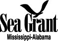 MS-AL Sea Grant logo black
