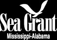 MS-AL Sea Grant logo white